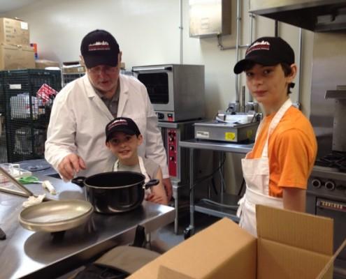 Liam-Sean-Grandpa-processing-Piemonte-Sausage
