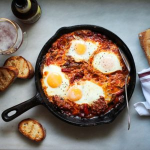 Merguez and Egg Breakfast