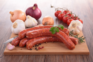 Sausage-natural-ingredients-and-spices