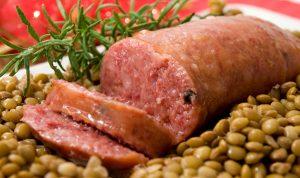cotechino-on-lentils-Sausage-Piemonte