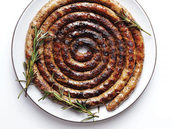 Grilled-Lugneca-sausage-coil-Piemonte