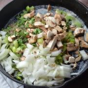 making-wild-rice-stuffing-with-Piemonte-Sausage